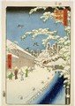 TH Riches 1913 Yabu Street Atago print no 112 from the series 100 Views of Famous Places in Edo Meisho Edo hyakkei - Utagawa or Ando Hiroshige