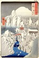 View of Mount Haruna in the Snow from Famous Views of the 60 Odd Provinces - Utagawa or Ando Hiroshige