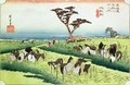 Horse Fair Ciryu from the series 53 Stations of the Tokaido Road - Utagawa or Ando Hiroshige