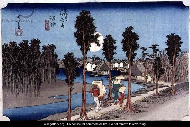 Numazu Twilight from the series 53 Stations on the Eastern Coast Road - Utagawa or Ando Hiroshige