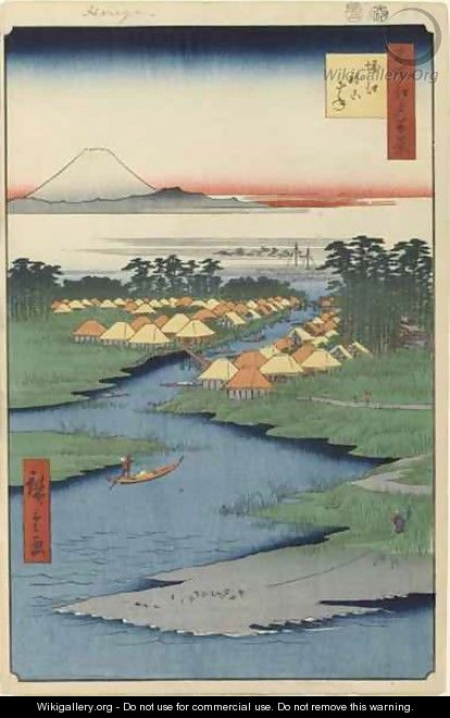 Horie and Nekozane No 96 from One Hundred Famous Views of Edo - Utagawa or Ando Hiroshige