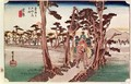 Fuji from Yoshiwara from 53 Stations of the Tokaido - Utagawa or Ando Hiroshige