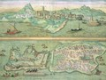 Map of Candia and Corfu from Civitates Orbis Terrarum - (after) Hoefnagel, Joris