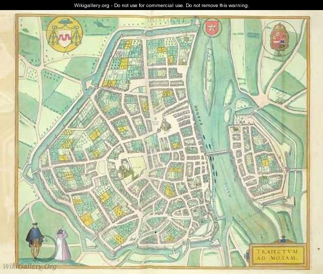 Map of Maastricht from Civitates Orbis Terrarum - (after) Hoefnagel, Joris
