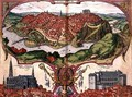 Map of Toledo from Civitates Orbis Terrarum - (after) Hoefnagel, Joris