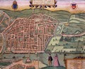 Map of Rouen from Civitates Orbis Terrarum - (after) Hoefnagel, Joris