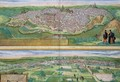 Map of Toledo and Valladolid from Civitates Orbis Terrarum - (after) Hoefnagel, Joris