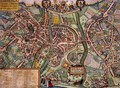 Map of Bamberg from Civitates Orbis Terrarum - (after) Hoefnagel, Joris