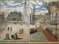 View of San Marco and the Palazzo Ducale on fire from Civitates Orbis Terrarum - (after) Hoefnagel, Joris