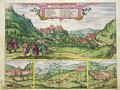 View of the Alhambra from Civitates Orbis Terrarum - (after) Hoefnagel, Joris