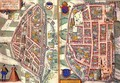 Maps of Chartres and Dunois from Civitates Orbis Terrarum - (after) Hoefnagel, Joris