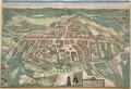 Map of Odense from Civitates Orbis Terrarum - (after) Hoefnagel, Joris