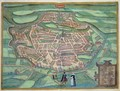 Map of Metz from Civitates Orbis Terrarum - (after) Hoefnagel, Joris