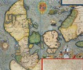 Map of Northern Europe from Civitates Orbis Terrarum - (after) Hoefnagel, Joris