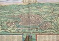 Map of Rome from Civitates Orbis Terrarum 3 - (after) Hoefnagel, Joris