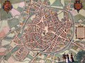 Map of Mechelen from Civitates Orbis Terrarum - (after) Hoefnagel, Joris