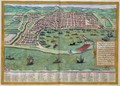 Map of Messina from Civitates Orbis Terrarum - (after) Hoefnagel, Joris