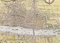 Map of London from Civitates Orbis Terrarum 3 - (after) Hoefnagel, Joris