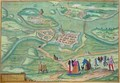 Map of Raab from Civitates Orbis Terrarum - (after) Hoefnagel, Joris