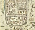 Map of Jerusalem and the surrounding area from Civitates Orbis Terrarum - (after) Hoefnagel, Joris