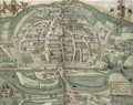 Map of Exeter from Civitates Orbis Terrarum - (after) Hoefnagel, Joris