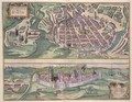 Map of Poznan and Gruczno from Civitates Orbis Terrarum - (after) Hoefnagel, Joris