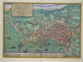 Map of Naples from Civitates Orbis Terrarum - (after) Hoefnagel, Joris