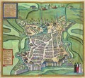 Map of La Rochelle from Civitates Orbis Terrarum - (after) Hoefnagel, Joris