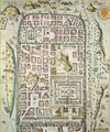 Map of Jerusalem and the surrounding area from Civitates Orbis Terrarum 3 - (after) Hoefnagel, Joris