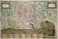Map of Palermo from Civitates Orbis Terrarum - (after) Hoefnagel, Joris