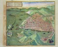 Map of Marseilles from Civitates Orbis Terrarum - (after) Hoefnagel, Joris