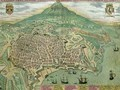 Map of Catania from Civitates Orbis Terrarum - (after) Hoefnagel, Joris