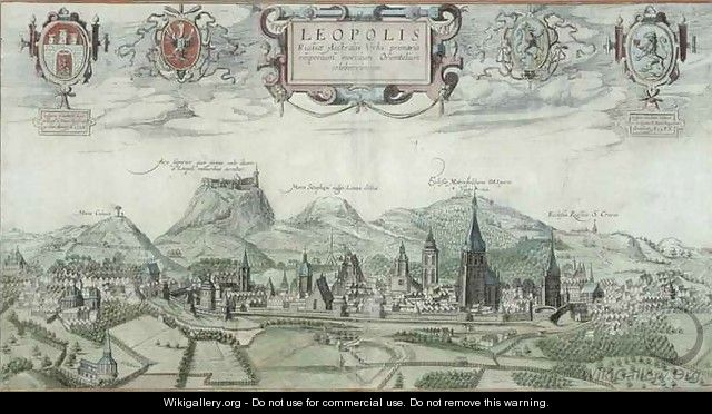 View of Leopolis from Civitates Orbis Terrarum - (after) Hoefnagel, Joris