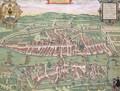 Map of Zurich from Civitates Orbis Terrarum - (after) Hoefnagel, Joris