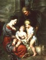 Madonna and Child with St Elizabeth and the Infant St John the Baptist - Jan van den Hoecke
