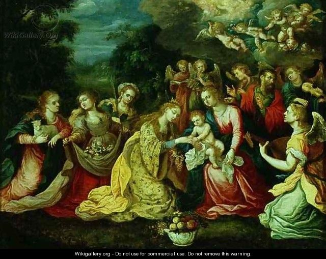 The Mystic Marriage of St Catherine - Kasper or Gaspar van den Hoecke