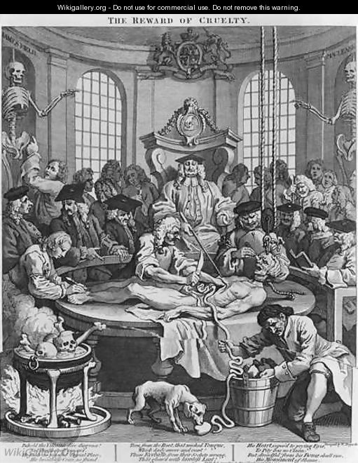 Autopsy or The Reward of Cruelty from The Four Stages of Cruelty - William Hogarth