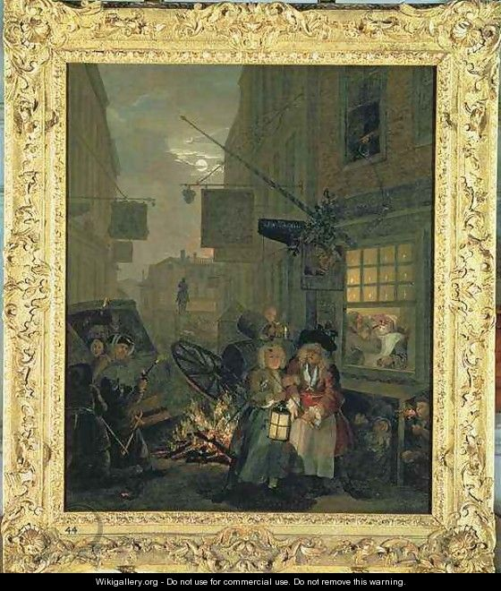 The Times of the Day Night - William Hogarth
