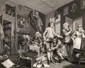 The Young Heir Takes Possession of the Misers Effects plate I from A Rakes Progress - William Hogarth
