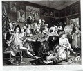 The Orgy plate III from A Rakes Progress - William Hogarth