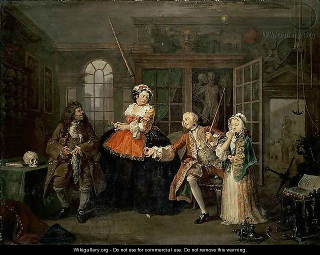 Marriage a la Mode III The Inspection - William Hogarth