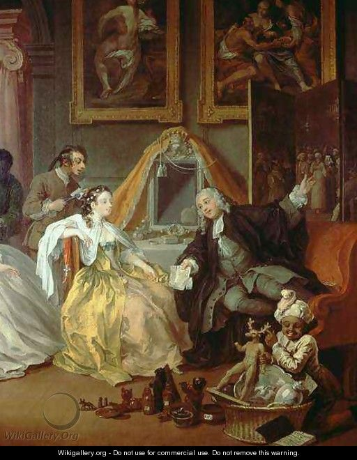 Marriage a la Mode IV The Toilette 2 - William Hogarth