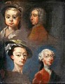 Study of Heads - William Hogarth