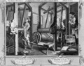 Industry and Idleness The Fellow Prentices at their Looms plate 1 - William Hogarth