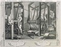 The Fellow Prentices at their Looms plate I of Industry and Idleness - William Hogarth