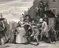 Arrested for Debt plate V from A Rakes Progress - William Hogarth