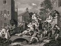 Scene in Bridewell plate IV from A Harlots Progress from The Works of William Hogarth - William Hogarth