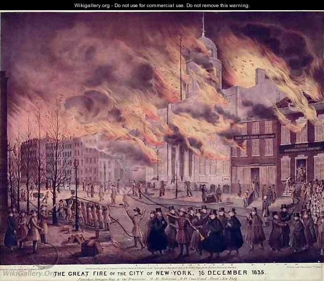 The Great Fire of New York - Alfred M. Hoffy