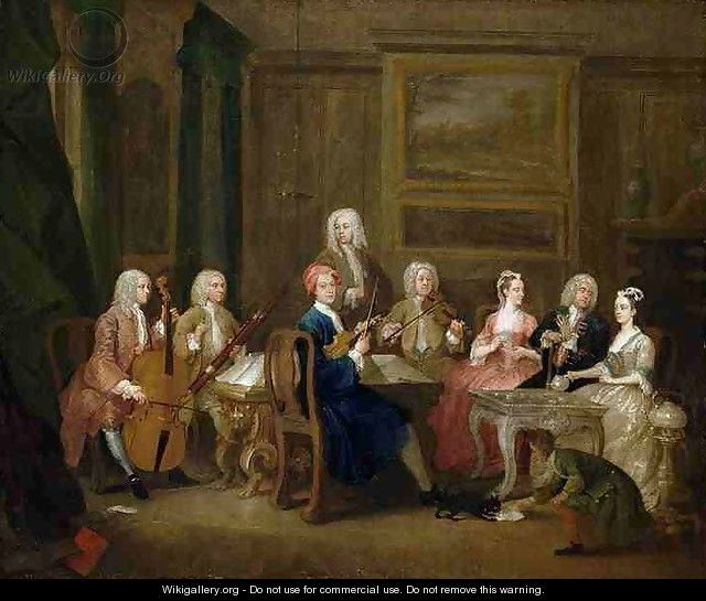 A musical party the mathias family william hogarth for William hogarth was noted for painting