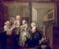 A Rakes Progress V The Rake marrying an Old Woman - William Hogarth